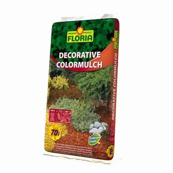 FLORIA dekorativni bojeni malč - 70 L crveni  kom